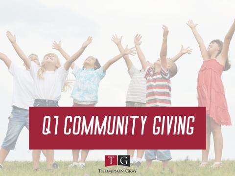 Q1 Community Giving